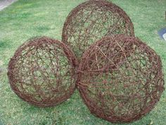 barbed wire balls, just need some one with skill to make them!