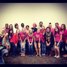Ferris State PRSSA showing support for their client, Colleges Against Cancer.