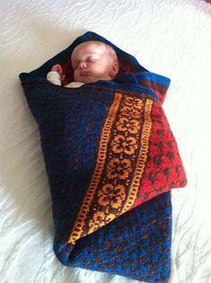 Baby Blanket Latvian Garden by Pinneguri