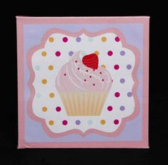 Cupcake Nursery Bedding ~ Sweet Dreams by DK LEIGH. @dkleigh #kid #room #home #decoration #nursery #girls #design #unique  #wall #art http://www.dkleigh.com/