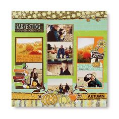 Autumn Layout  Made Using : http://www.mycmsite.com/sites/sharoncollins/Content/Shop/Product.aspx?pr=InspectOffering&s=648804&dpr=BrowseCategory&ds=/Hierarchy/Paper%20Scrapbooking/Paper/12x12%20Themed%20Paper-Additions  #scrapbooking