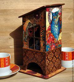 """Купить Чайный домик """"Сказки Востока"""" - чайный домик, чайный домик декупаж, домик для чая"""