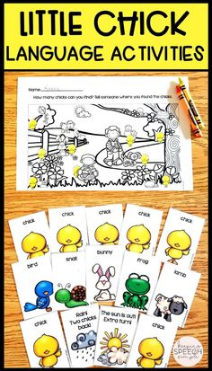 These spring themed literacy and language activities will have your preschool and elementary students developing important skills. These resources are appropriate for speech therapy, preschool classrooms and special education classes. Also included is a predictable, interactive reader.  Click here to see more of this resource!