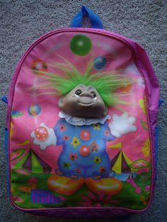 1992 Norfin Troll Juggling Clown School PVC Backpack