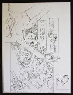 Alessandro Barbucci Art | Barbucci Sky Doll par Alessandro Barbucci - Planche originale Understanding Comics, Sky Doll, Comic Book Layout, Comic Frame, Doll Drawing, Comic Book Panels, Art Manga, Figure Sketching, Illustration Artists