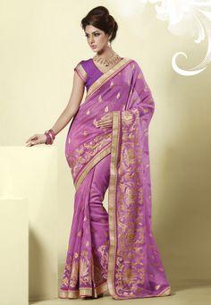 Pink Net Saree #saree #sari #blouse #indian #outfit  #shaadi #bridal #fashion #style #desi #designer #wedding #gorgeous #beautiful