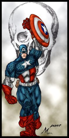 captain america   Art : pant  Color  : Mich974