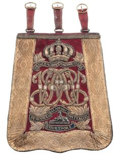 British; 11th (Prince Albert's Own) Hussars, Officer's Sabretache, early Victorian(does not have Crimean honours)