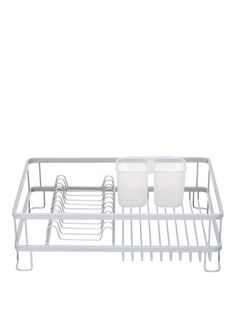 Master ClassAnti-Rust Aluminium Dish Drainer Large and stylish, this anti-rust dish drainer features an anti-rust brushed aluminium frame.Featuring an integral rack for plates and bowls as well as a removable cutlery drainer. Cook with confidence using kitchen tools and equipment that are perfect for the aspiring chef. A true Master Class.Size:42 x 30 x 13cm.Depth: 30 CMmetalHeight: 13 CMMaterial Content: metalWidth: 42 CMThe essential washing up tool - this high-quality, practical dish…