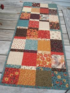 Quilted Table Runner. Combine this with the fusible interfacing quilt pin and make lots of runners for each season and/or holiday!