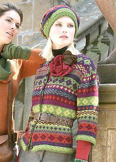 Ravelry: #44 Jacke mit 3/4 Ärmeln und Fair Isle Muster pattern by Verena Design Team