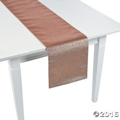 Rose Gold Glitter Table Runner - OrientalTrading.com