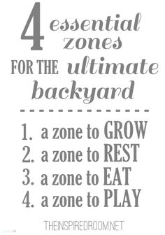 A good rule of thumb as you design your backyard space this year!