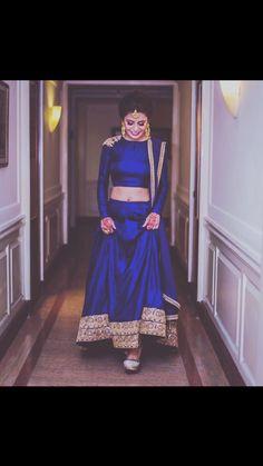 Indian Dress Lehanga - blue Indian dress for wedding reception