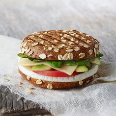 Egg whites, a thick slice of Vermont white cheddar, fresh avocado, fresh baby spinach and tomato on a freshly baked Sprouted Grain Bagel Flat.- Visit PaneraBread.com for more inspiration.