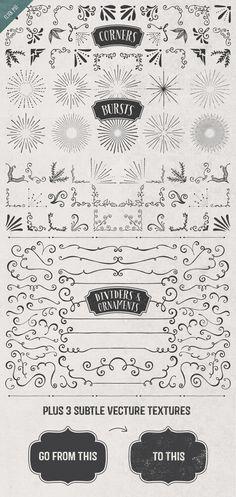 Borders, Corners & Frames Super Kit by MakeMediaCo. on Creative Market