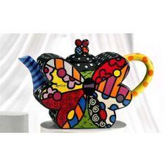 BUTTERFLY   ** NEW ** ✿ ROMERO BRITTO ✿ RECTANGULAR GLASS PLATE