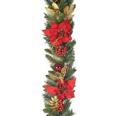 Christmas Garlands and LED Christmas lights from www. Led Christmas Lights, Christmas Tree, Poinsettia, String Lights, Color Change, Garland, Wreaths, Holiday Decor, Red