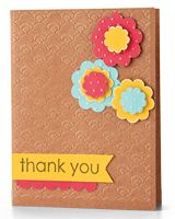 Floral Thank You Card by @Kimber McGray - supplies and instructions included #embossing