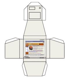 Printable CRT computer monitor from Print mini 1:6 scale