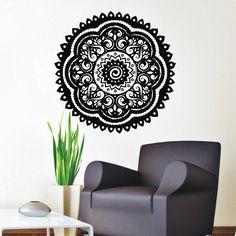 Believer Home Decor Wall Stickers Indian Mandala Pattern Vinyl Art Wall Decals Murals Bedroom  $11.55