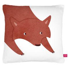 Fox cushion by Anna Brown