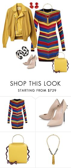 """""""Untitled #982"""" by clothes-wise ❤ liked on Polyvore featuring Balmain, Casadei, Roksanda and Devon Leigh"""