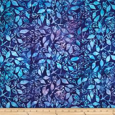 Artisan Batiks Splendid Branches Periwinkle from @fabricdotcom  Designed by Lunn Studios for Kaufman Fabrics, this Indonesian batik is perfect for quilting and craft projects as well as apparel and home décor accents. Colors include shades of blue and purple.