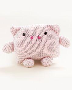 Martha Stewart Crafts Lion Brand® Yarn Extra-Soft Wool Blend Loom-Knit Pig - Martha Stewart Crafts by Material