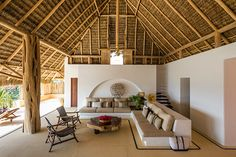 amazing tropical living room design ideas you never know before page 8 Bamboo House Design, Tropical House Design, Tropical Beach Houses, Bali House, Bamboo Architecture, Tropical Architecture, Bungalow, Casa Loft, Rest House