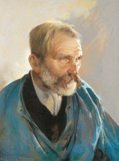 Firmin Baes - Portrait de pêcheur