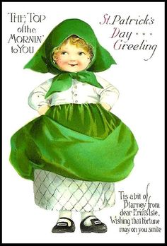 Top Of the Mornin' To You St Patrick's Day Greeting Tis A bit Of Blarney From Dear Erin's  Isle Wishing That Fortune May On You Smile    (1) From: Web Clipart, please visit