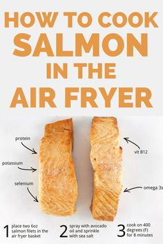 Air fryer salmon is the easiest way to cook salmon ever!  You'll love this healthy air fryer recipe.  Plus, find out other easy things to cook in the air fryer. Low Sugar Recipes, Fish Recipes, Real Food Recipes, Cooking Avocado, Cooking Salmon, Salmon Dishes, Fish Dishes, Delicious Salmon Recipes, Tzatziki Recipes