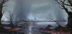 Swamps, Sebastian Wagner on ArtStation at https://www.artstation.com/artwork/rrwG