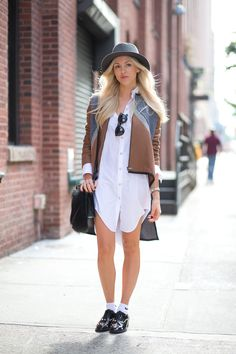 Although this look can be chic, you can also look like you forgot your pants if you're not careful.