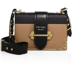 Prada Cahier Notebook Leather Shoulder Bag ($2,660) ❤ liked on Polyvore featuring bags, handbags, shoulder bags, apparel & accessories, leather shoulder handbags, buckle purses, prada handbags, real leather purses and genuine leather handbags