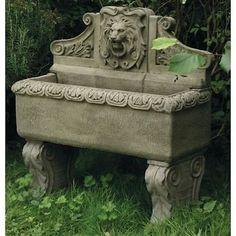 Stone Lion Wall Fountain - Fountain - Garden Fountain
