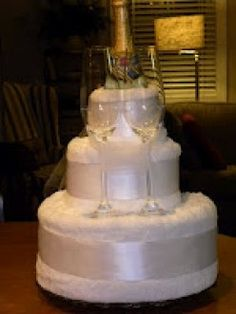 wedding towel cake ideas | bridal cake i made this towel cake as a centerpiece for a bridal