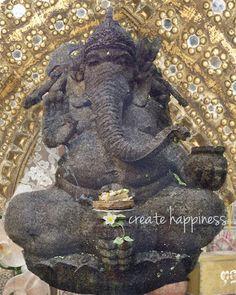 Ganesha Art Spiritual Art Bali Meditation Altar by LandOfBohemia