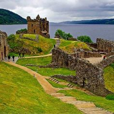 Urquhart Castle on Loch Ness. Ben & I have been here:)