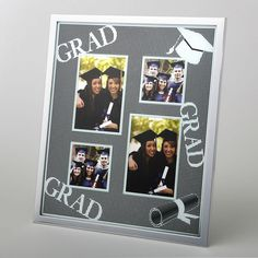 4 Opening Collage Glitter Silver Matte Graduation Picture Frame- Add a sparkle to your graduate's celebrations and honor their achievement with this glorious glitter frame that holds four special graduation day photos. This stunning frame is made fro Graduation Picture Frames, Graduation Pictures, Collage Picture Frames, Picture Frame Sets, Silver Wedding Favors, Glitter Frame, Baby Frame, 6 Photos, Frame Crafts