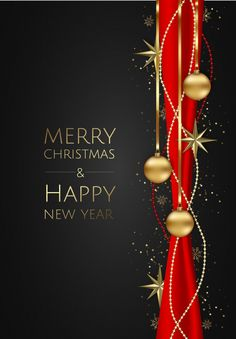 Vector banner with vector gold stars, christmas balls and space for text. Merry Christmas Images Free, Merry Christmas Wallpaper, Happy New Year Wallpaper, Merry Christmas And Happy New Year, Christmas Wishes Quotes, Best Christmas Wishes, Christmas Messages, Christmas Greetings, Christmas Scenes