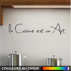 Wall sticker decal art mural Cuisine texte citation muraux