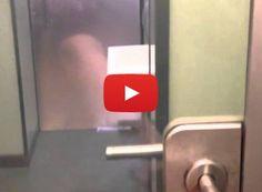 High-tech bathroom stall door is transparent until it gets locked