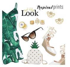 """Tropical prints"" by dressedbyrose ❤ liked on Polyvore featuring Topshop, Charlotte Russe and Tatcha"