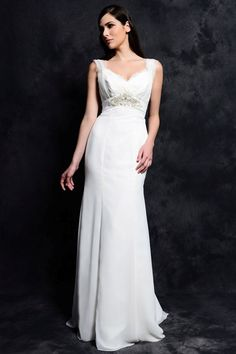 Applique pleats Sheath Lace Vestidos Fold Bridal Gowns Pearls Beaded Flower Crisscross Wedding Dress 2015 New Arrival sheer Wedding Dresses With Straps, 2015 Wedding Dresses, Bridal Dresses, Wedding Gowns, Bridesmaid Dresses, Deb Dresses, Prom Dresses 2017, Pregnant Wedding Dress, Lace Bride