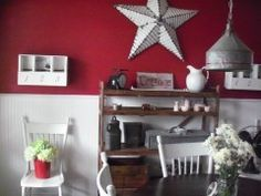 barn star dining room #decor, #western kelleyscraftfix