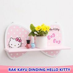 RAK KAYU DINDING HELLO KITTY