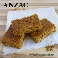 Recipe ANZAC Slice by Cooking in the Chaos, learn to make this recipe easily in your kitchen machine and discover other Thermomix recipes in Baking - sweet. Easy Cooking, Cooking Recipes, Sweet Recipes, Cake Recipes, Anzac Biscuits, Muesli Bars, Thermomix Desserts, Lunch Box Recipes, Food Allergies