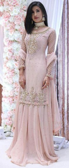 New Engagement Dresses Designs For Brides 2019 Pakistani Wedding Dresses, Pakistani Bridal, Pakistani Outfits, Indian Bridal, Indian Dresses, Indian Outfits, Bridal Dresses, Pakistani Party Wear, Sari